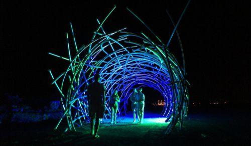 Futuristic led neon flex