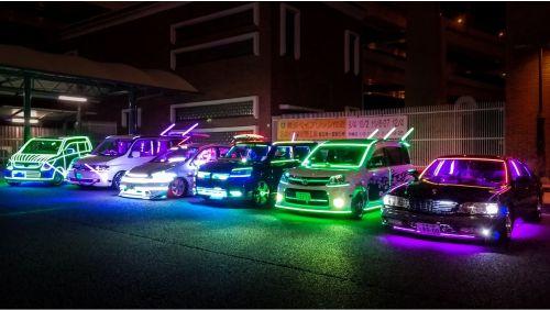 modifikasi mobil menggunakan led neonflex