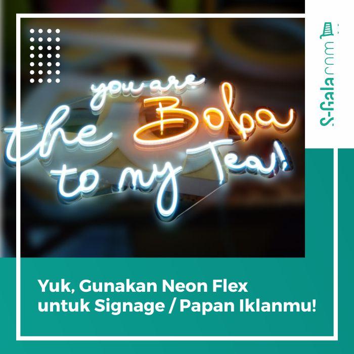 Neon Flex untuk Signage
