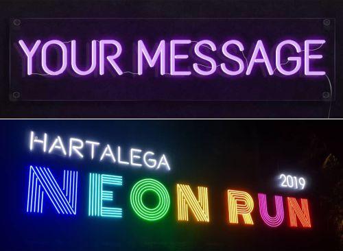 Contoh Neon Flex untuk Signage