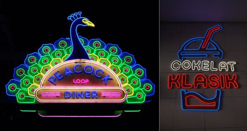Contoh LED Neon flex untuk iklan