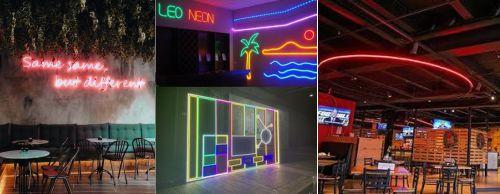led neon flex untuk interior cafe