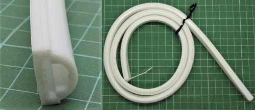 Selang Silicon 1 layer untuk DIY LED Neon Flex