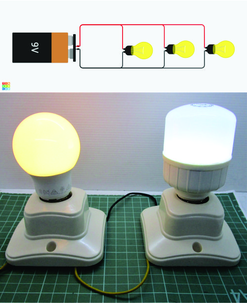 Rangkaian paralel lampu ON