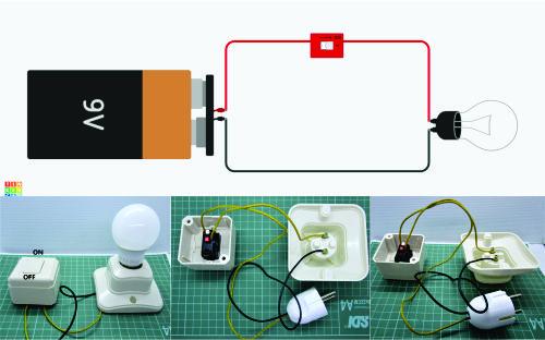 lampu dan switch rangkaian seri