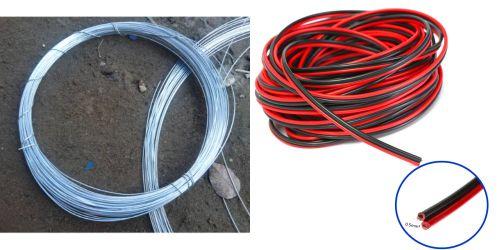 Gambar contoh kawat besi dan kabel