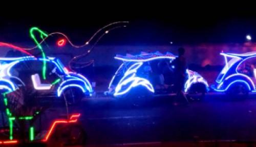 penggunaan LED neon flex outdoor odong-odong