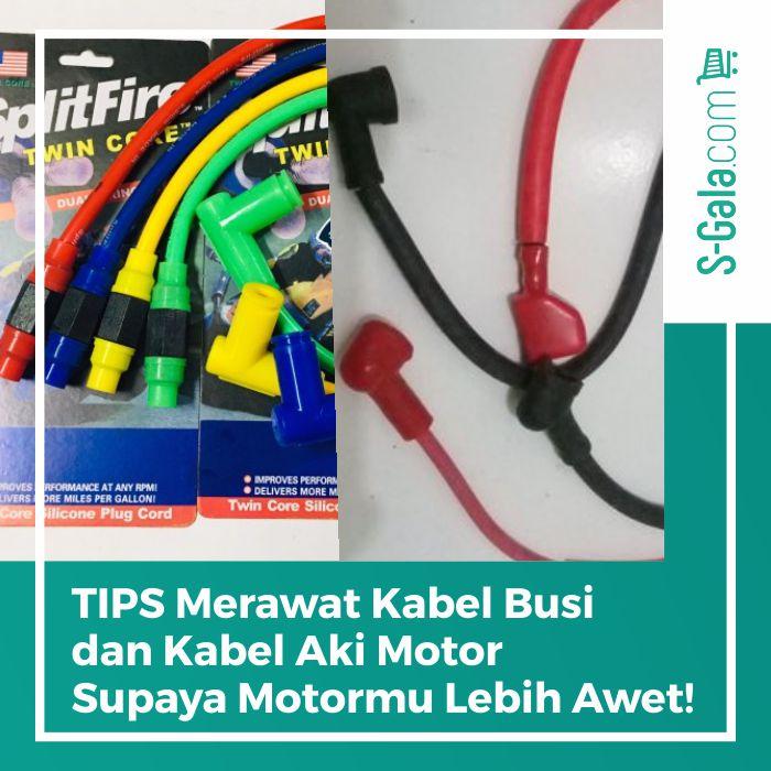 Kabel aki dan kabel busi motor