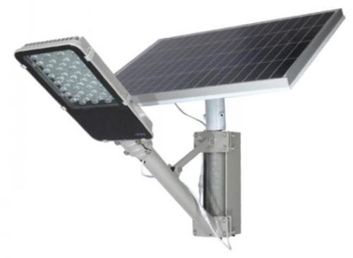 Gambar penerangan jalan panel lamp yang menggunakan tenaga surya
