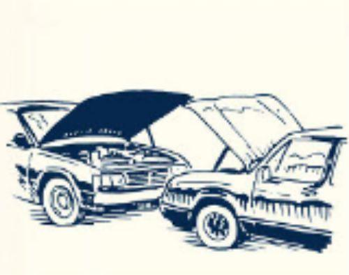 posisi mobil berhadapan saat jumper