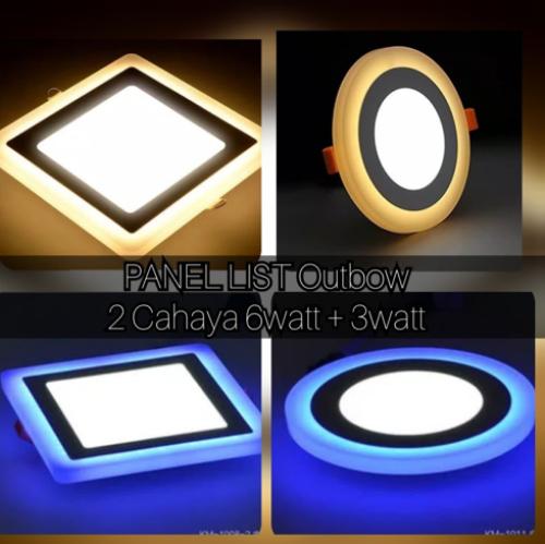 Gambar lampu downlight 2 warna