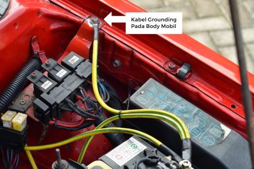Gambar kabel grounding mobil pada body