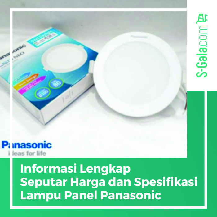 Lampu panel panasonic