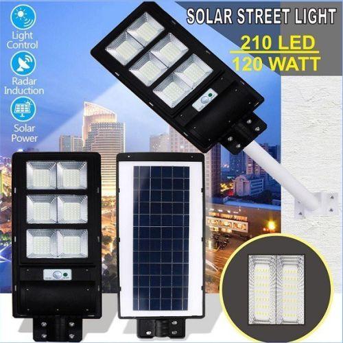 Gambar lampu jalan tenaga surya atau solar