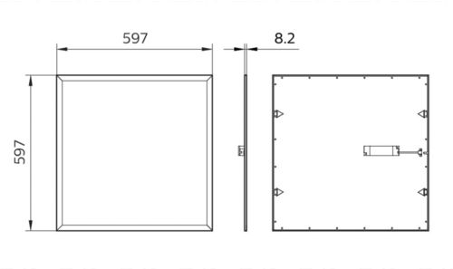 Gambar lampu panel dari Philips tipe RC091V LED36S