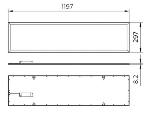 Gambar lampu panel merk Philips