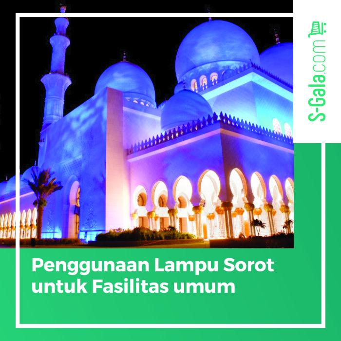 Lampu sorot untuk fasilitas umum