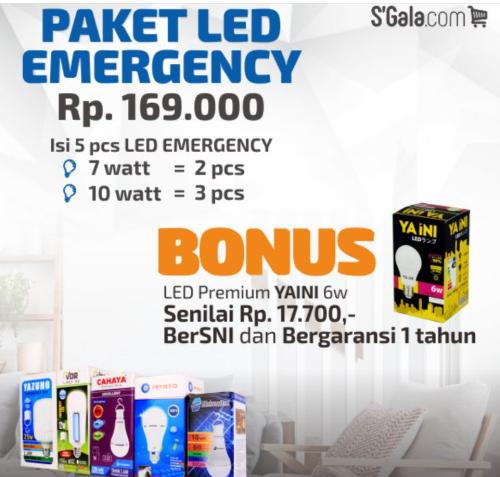 Gambar paket LED emergency terbaik dari S-gala.com