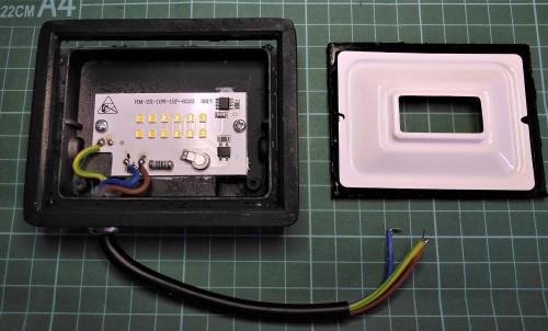 Gambar komponen-komponen yang digunakan pada salah satu merk lampu sorot LED 10W