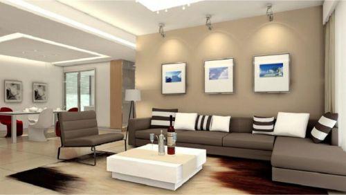 Gambar penggunaan lampu tembak pada ruang keluarga