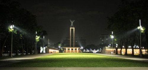 Gambar lampu tembak untuk taman kota
