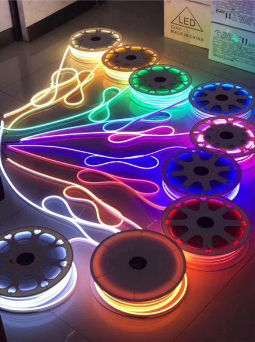 Gambar lampu neon flex LED