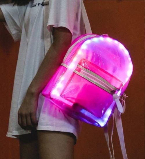 Gambar tas dengan lampu neon flex