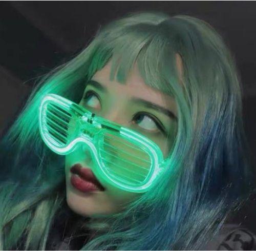 Gambar kacamata dengan lampu neon