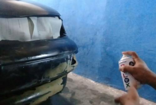 Gambar proses pengecatan mobil menggunakan pilox