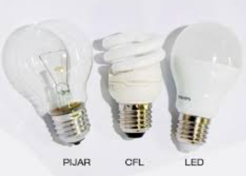 Perbandingan lampu pijar, lampu tornado dan lampu LED