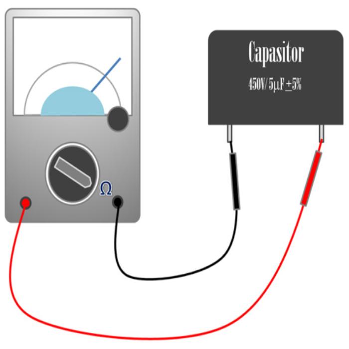 Mengukur kapasitor menggunakan multimeter