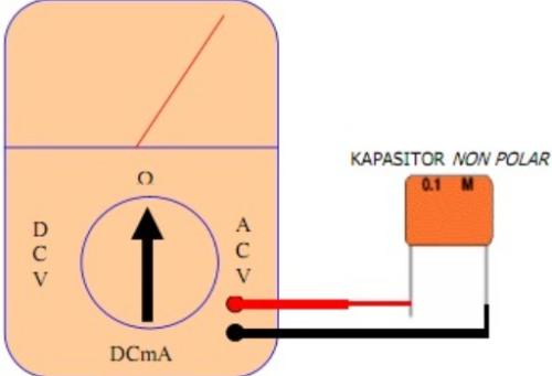 Cara mengukur kapasitor non polar dengan multimeter analog