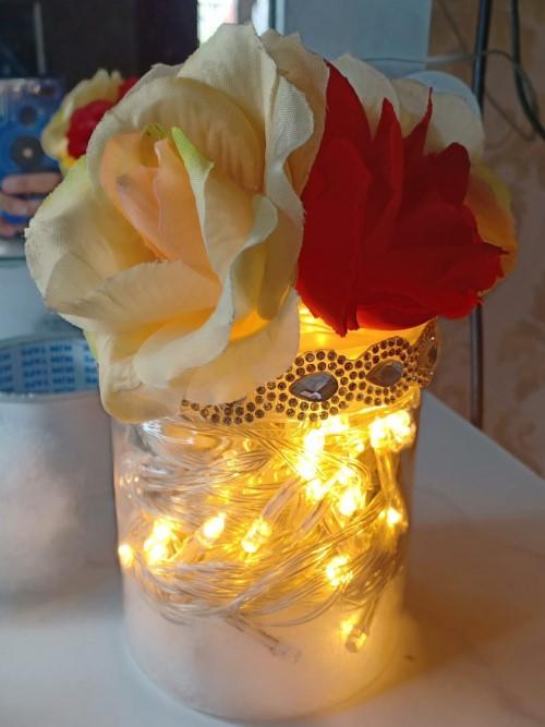 Hasil DIY lampu tidur dari lampu TUMBLR