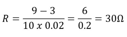 Cara menghitung rumus nilai resistor
