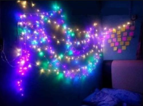 Gambar lampu tumblr warna-warni untuk kamar