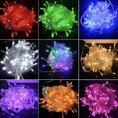 Gambar string lights warna-warni
