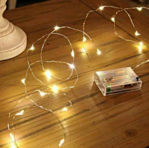 Gambar lampu LED tumblr yang dengan 2 buah baterai