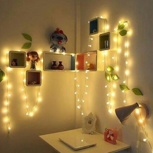 Gambar lampu tumblr yang dicantolkan pada benda lain