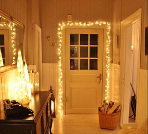 Contoh dekorasi lampu TUMBLR pada pintu