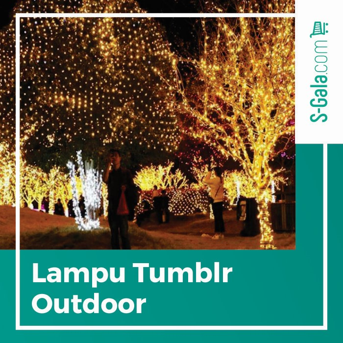 Cover lampu tumblr outdoor