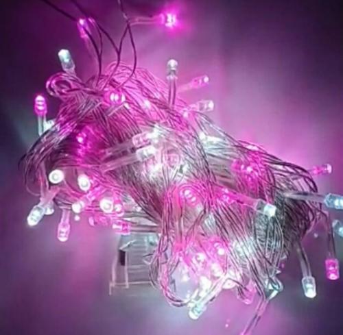 Lampu TUMBLR 2 warna (putih - pink)