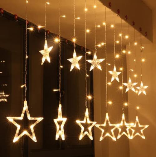 Gambar lampu tumblr tirai berbentuk bintang