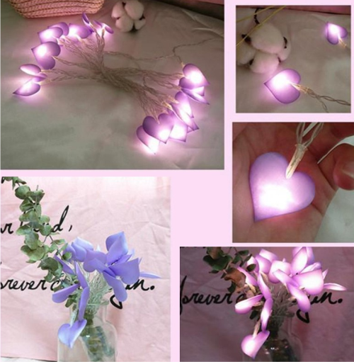 Lampu tumblr berbentuk hati