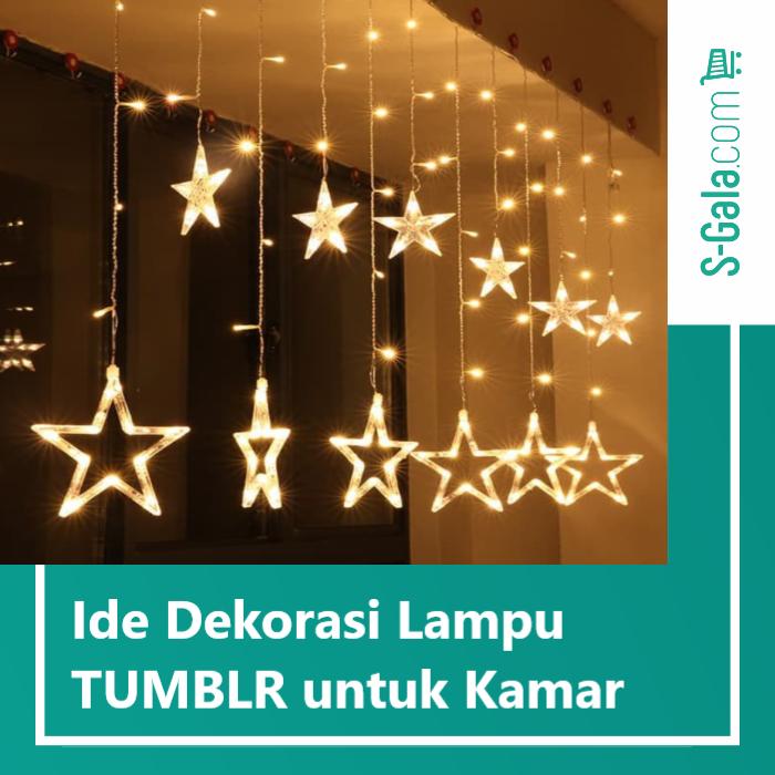 dekorasi lampu TUMBLR untuk kamar