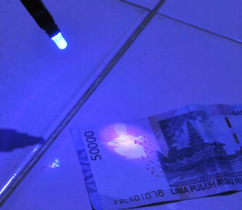 Hasil penggunaan money detector sederhana