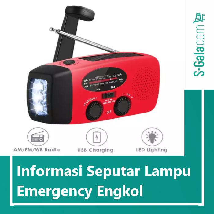Lampu emergency engkol