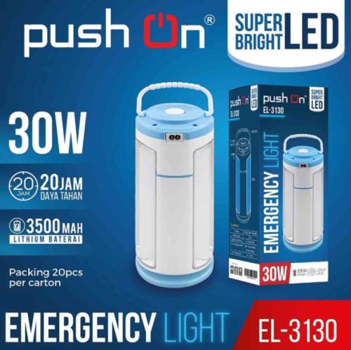 Lampu emergency merk Push On