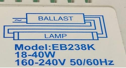 Gambar rangkaian lampu TL fluorescent dengan ballast elektronik