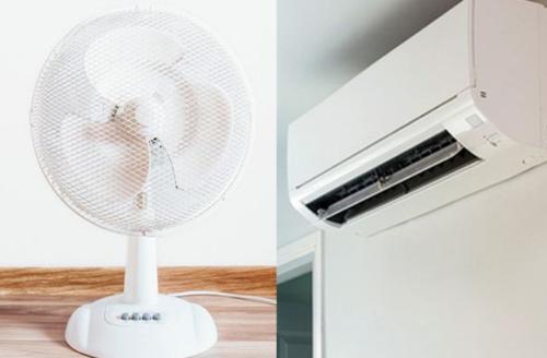 Gambar kipas angin (kiri) dan AC (kanan)