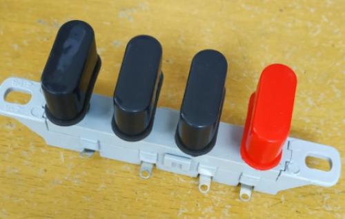Contoh saklar speed kipas angin menggunakan push button switch